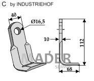 63-AED-10 Nóż kątowy