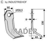 63-IND-153 Nóż Y