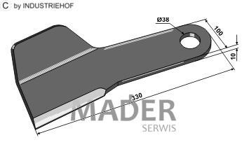 63-IND-1181-R Nóż prawy