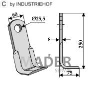 63-FEI-03 Nóż kątowy
