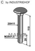 63-DÜC-911 Śruba M20x1,5 - 10.9