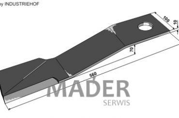 63-IND-1881L Nóż 560 mm lewy