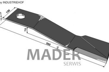 63-IND-1881R Nóż 560 mm prawy