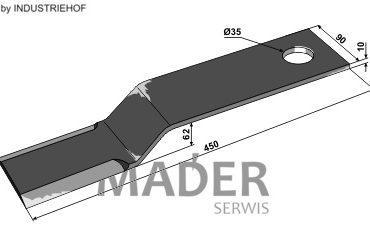 63-IND-1883 Nóż 450 mm