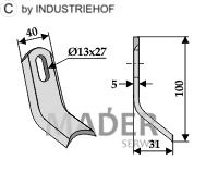 63-MUL-53 Nóż Y Mulag