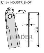 63-SEK-03 Nóż prosty
